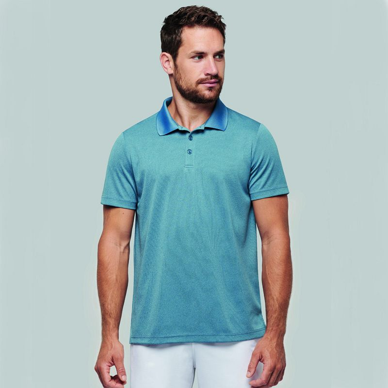 Polo Jaspeado M/c Adulto (xxl-4xl)
