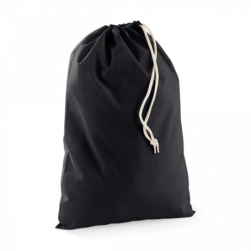 Bolsa Practica de Algodón Black S