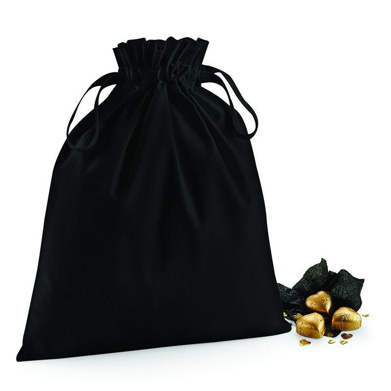 Bolsa de Algodón con Doble Cordón Negra S