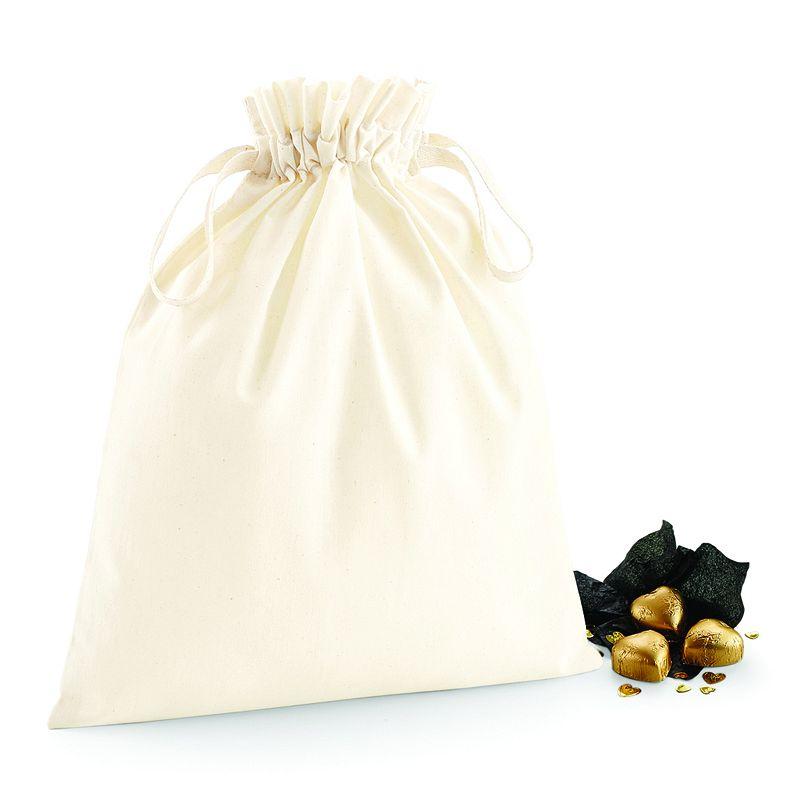 Bolsa de Algodón con Doble Cordón Natural Xs
