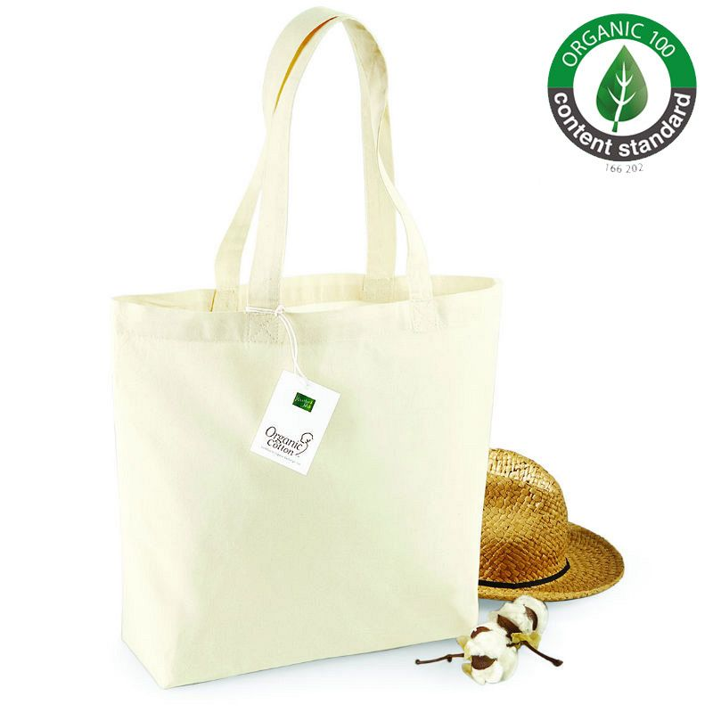 Bolsa de Compra En Algodón Organico Natural